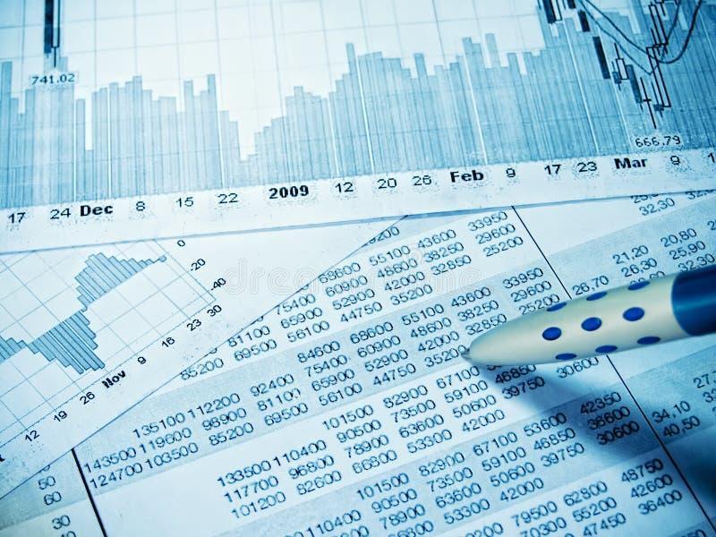 Tableau financier images stock