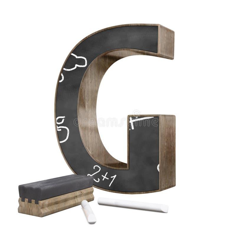 Tableau formé par lettre de ` du ` G illustration libre de droits