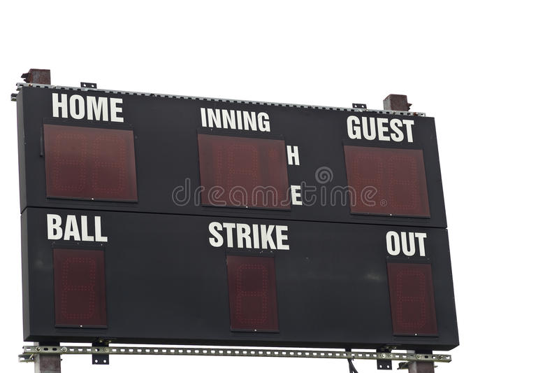 Tableau indicateur d'isolement de base-ball image stock