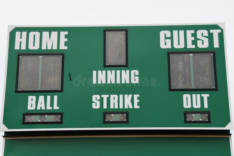 Tableau indicateur de base-ball images stock