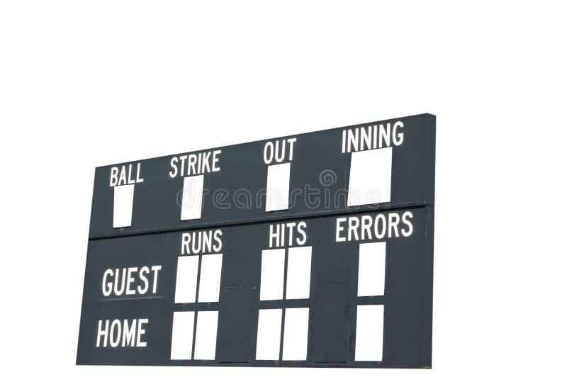 Tableau indicateur de base-ball photo libre de droits