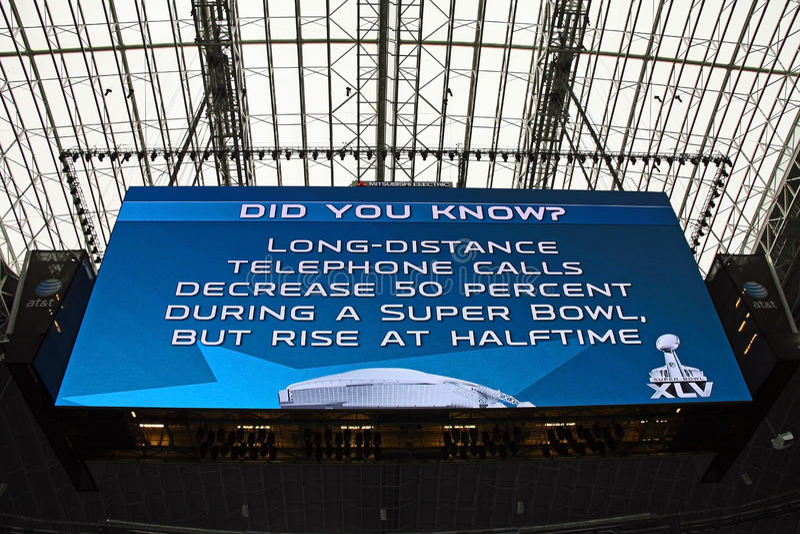 Tableau indicateur de géant de stade de cowboys images stock