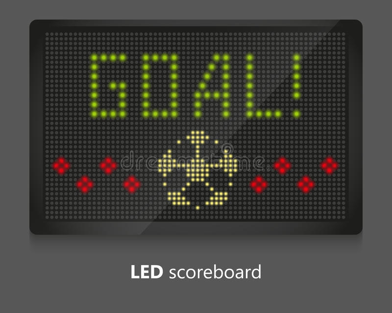 Tableau indicateur de LED illustration libre de droits