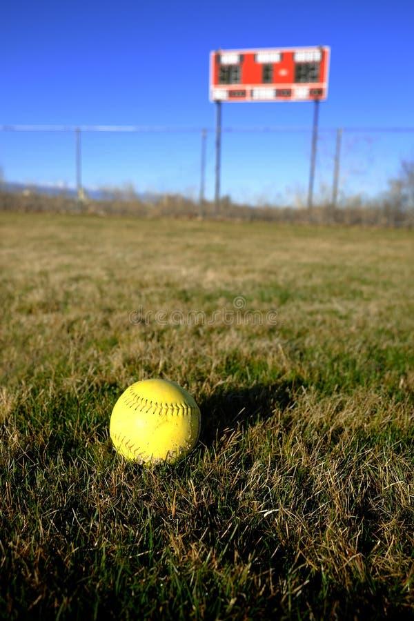 Tableau indicateur du base-ball sur le terrain de jeu Diamond Sports images libres de droits
