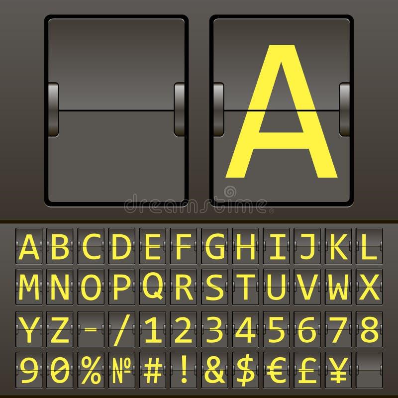 Tableau indicateur mécanique fortement détaillé de vecteur photo stock