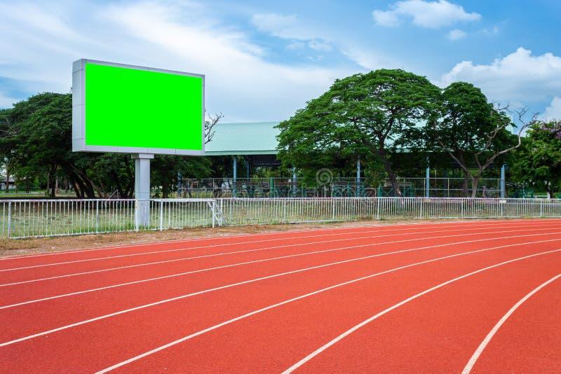 Tableau indicateur vide de Digital au stade de football photographie stock
