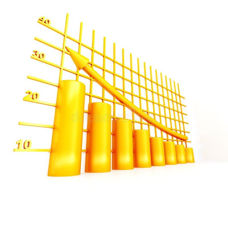 Tableau jaune illustration de vecteur
