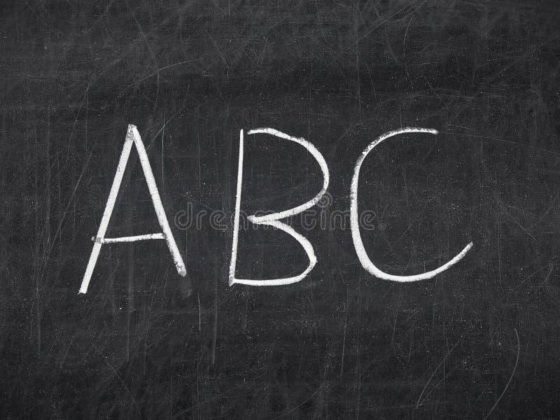 Tableau manuscrit de tableau noir d'ABC image stock