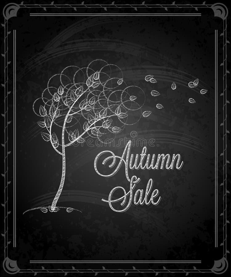 Tableau - menu d'automne de cadre illustration stock