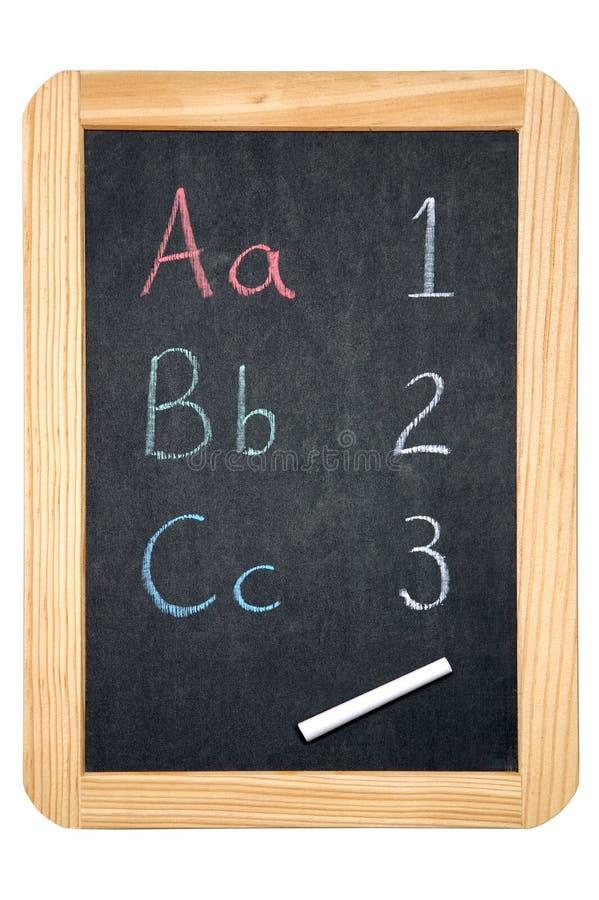 Tableau noir ABC/123 image stock