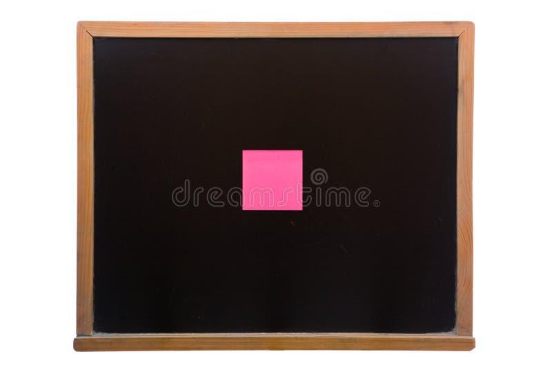 Tableau noir avec collant images libres de droits
