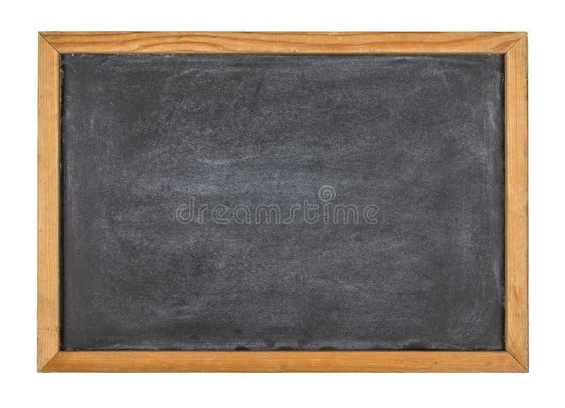 Tableau noir avec un cadre en bois images stock
