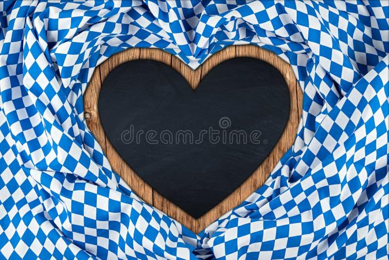Tableau noir bavarois en forme de coeur photo libre de droits