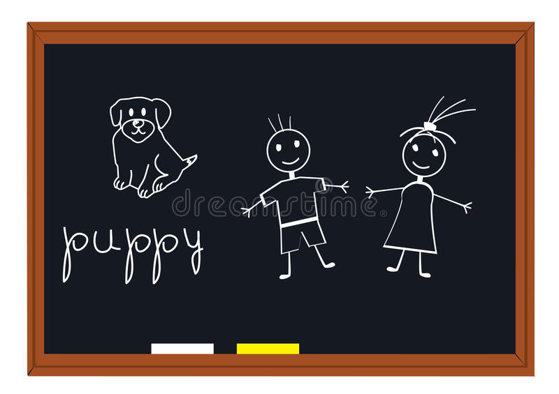 Tableau noir d'école illustration stock