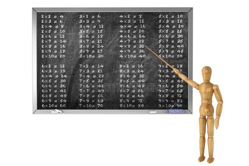 Tableau noir d'école avec le simulacre en bois photographie stock libre de droits