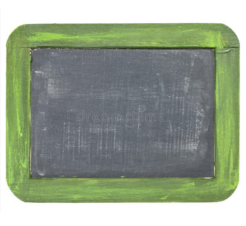 Tableau noir d'ardoise blanc de cru image stock