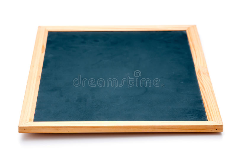 Tableau noir d'isolement photo stock