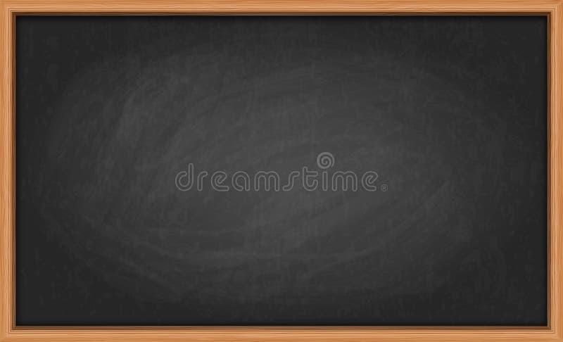 Tableau noir dans le cadre en bois illustration libre de droits
