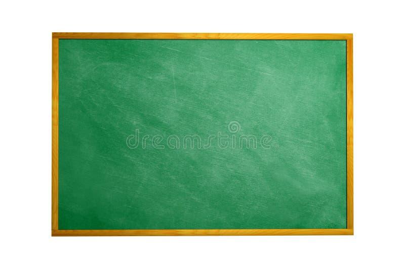 Tableau noir de tableau avec la trame d'isolement Tex noir de panneau de craie images stock