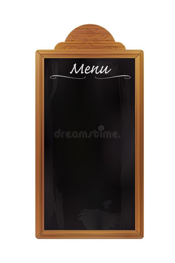 Tableau noir en bois vide de restaurant d 39 isolement photos - Tableau noir bois ...