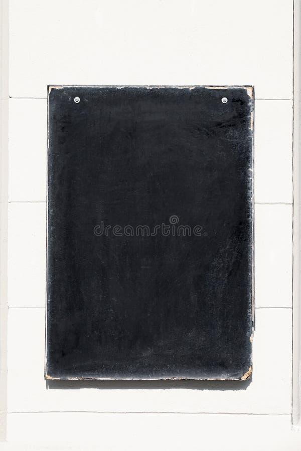 Tableau noir ou tableau vide de panneau de menu images stock