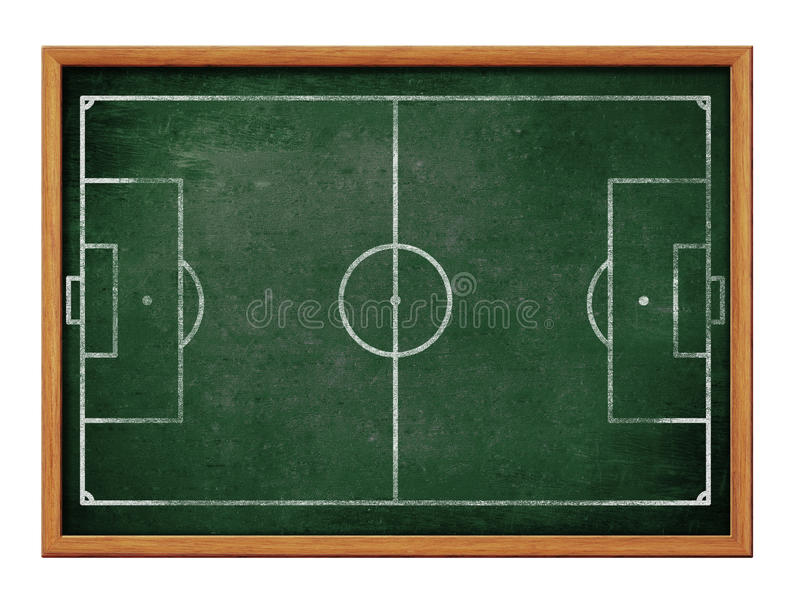 tableau noir pour le football ou le dessin de formation d u0026 39  u00e9quipe de football illustration stock