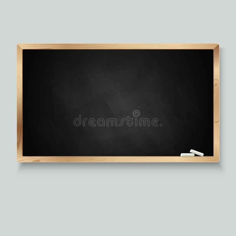 Tableau noir pour le message avec la craie illustration de vecteur