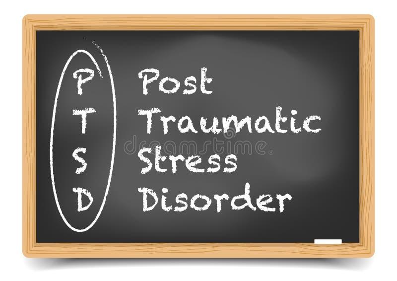 Tableau noir PTSD illustration stock