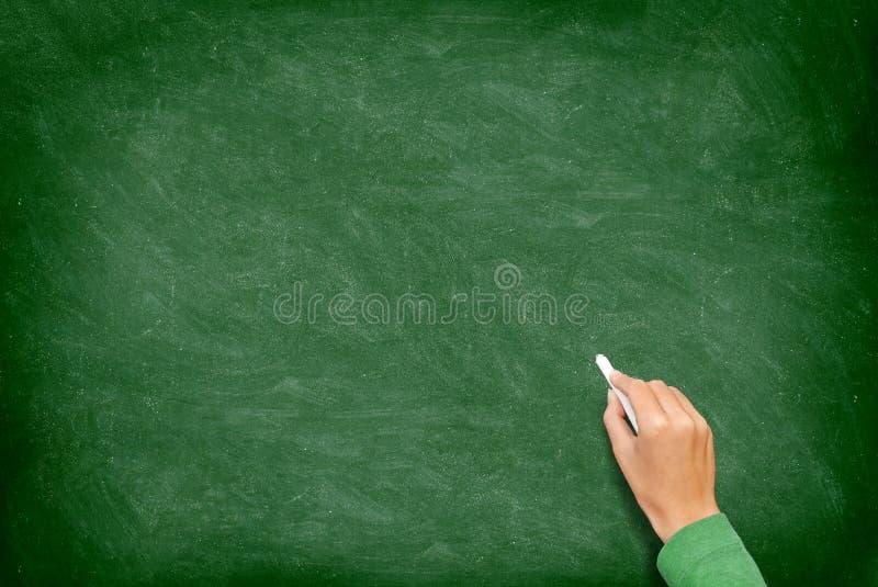 Tableau noir/tableau avec la main photo libre de droits