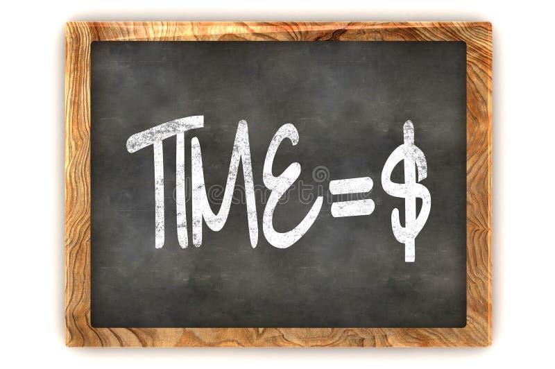 Tableau noir Time=Money illustration de vecteur