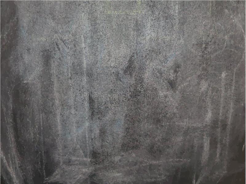 Tableau noir vide noir de craie illustration de vecteur