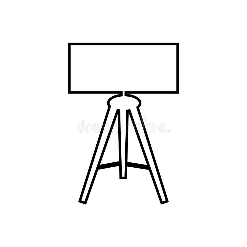 Tableau ou lampe de bureau pour la chambre à coucher, bureau, ensemble de salon d'icône plate d'isolement de vecteur illustration de vecteur