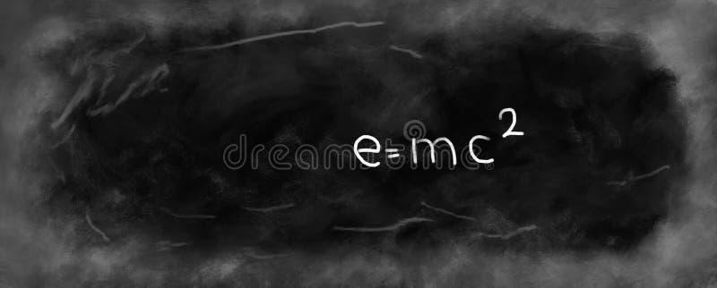 Tableau ou tableau noir avec le ² d'e=mcillustration libre de droits