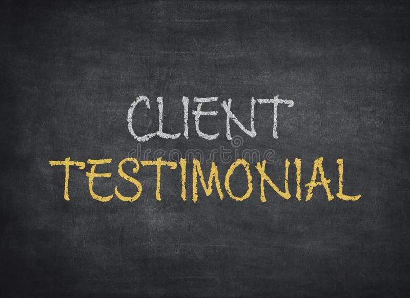 tableau testimonial de client photos stock