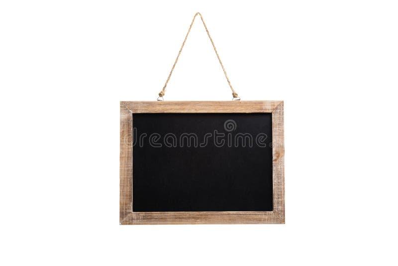 tableau vide de vintage avec le cadre en bois et corde pour accrocher image stock image du. Black Bedroom Furniture Sets. Home Design Ideas