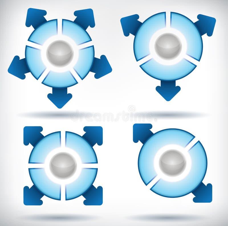 Tableaux de flèche et de segment illustration stock