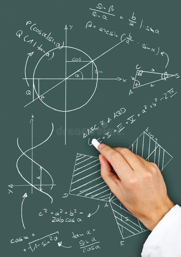 Tableaux et formules de maths photo libre de droits