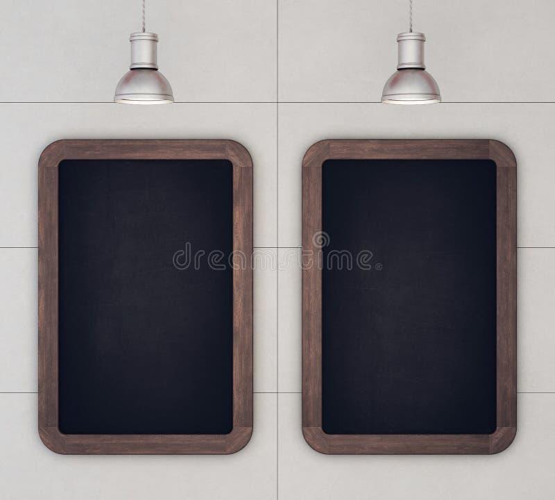 Tableaux sur un mur en béton illustration libre de droits