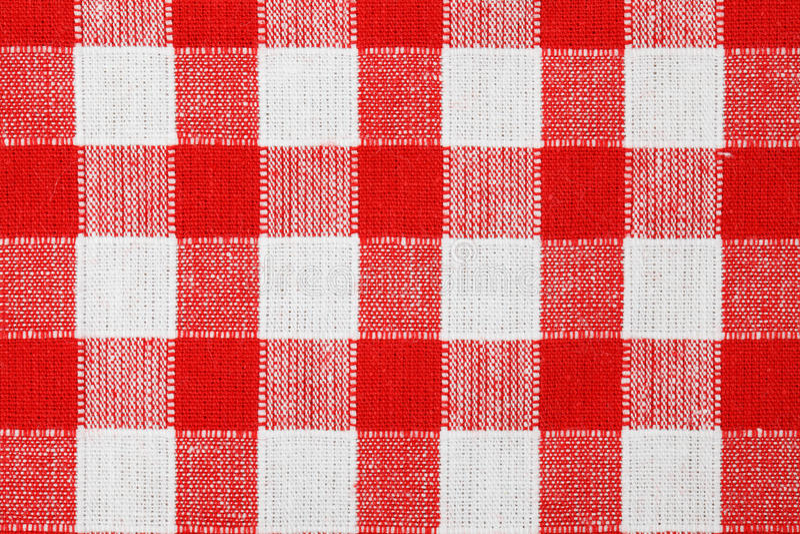 Tablecloth Checkered imagens de stock