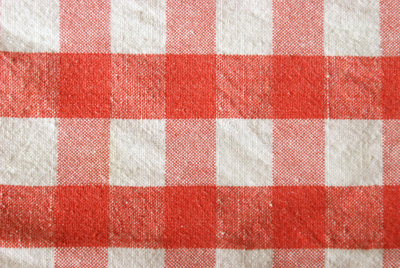 Tablecloth Checkered Foto de Stock Royalty Free