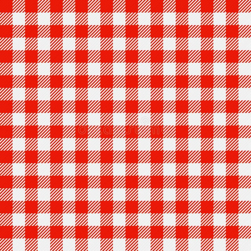 Tablecloth Checkered ilustração royalty free