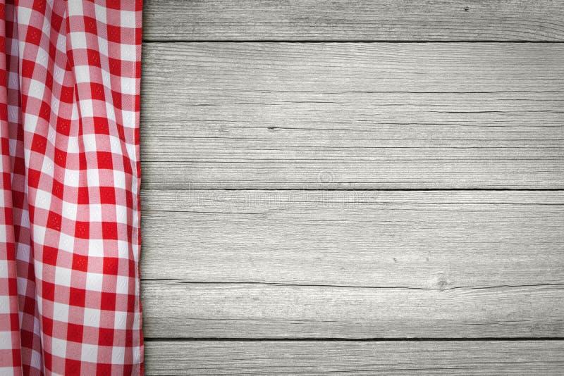 Tablecloth checkered vermelho imagem de stock