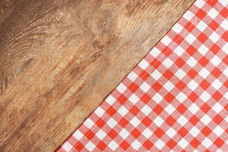 Tablecloth checkered vermelho imagem de stock royalty free