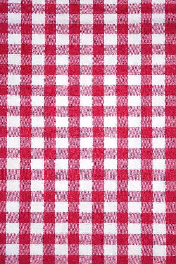 Tablecloth checkered vermelho foto de stock