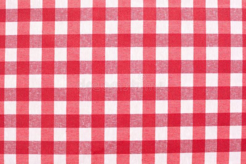 Tablecloth checkered vermelho fotos de stock