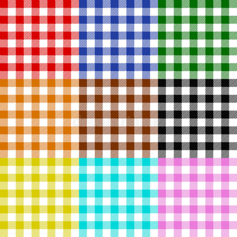 Download Tablecloth Checks Pattern Collection Multicolor Stock Illustration - Image: 18055829