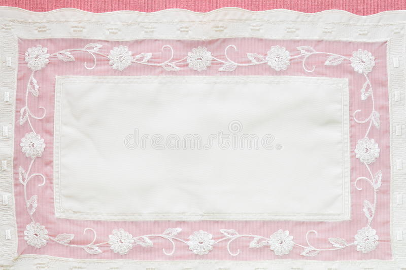Tablecloth cor-de-rosa bonito foto de stock royalty free