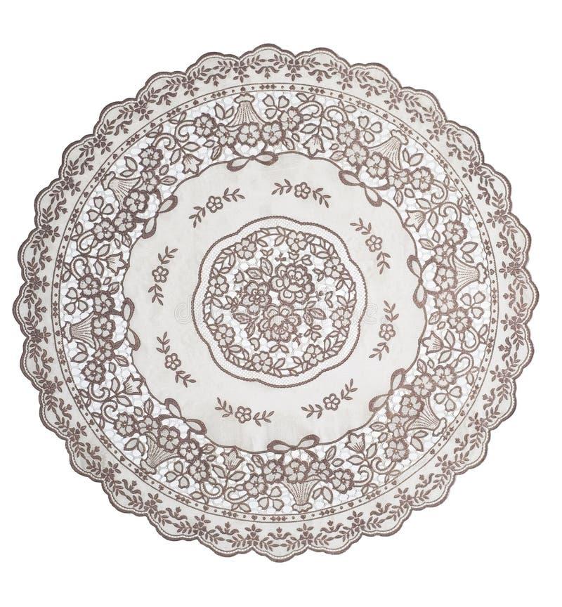 Tablecloth Dla Okrągłego Stołu Fotografia Royalty Free