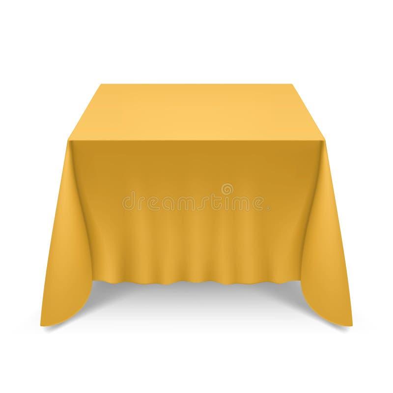 tablecloth för tabell för kaviarmatställepannkakor royaltyfri illustrationer