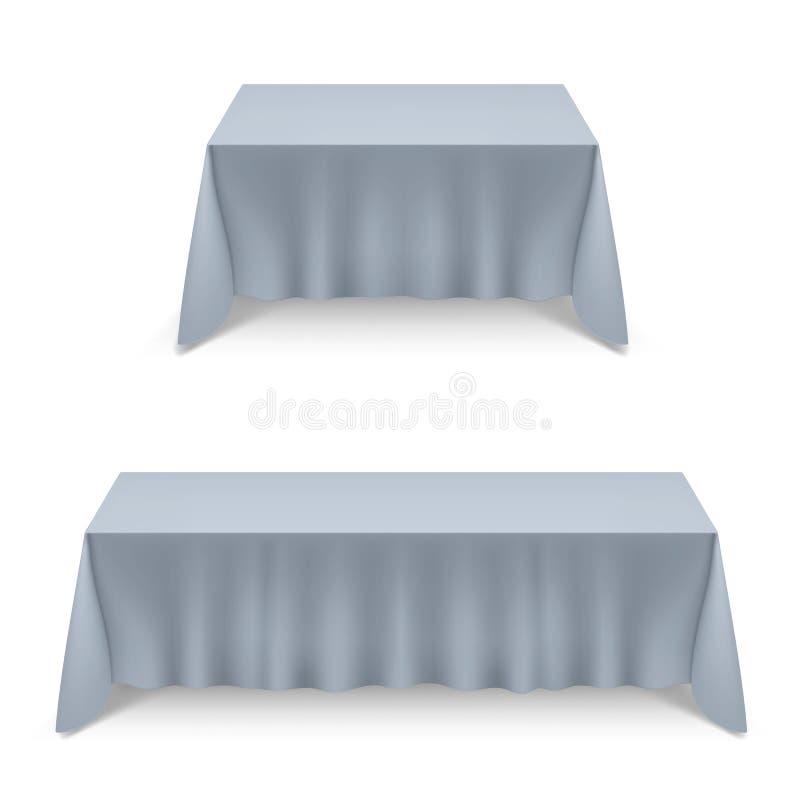 tablecloth för tabell för kaviarmatställepannkakor vektor illustrationer